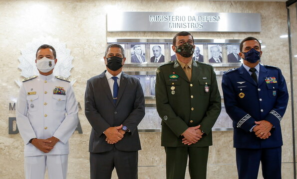 Brazil's Defense Minister Walter Souza Braga Netto introduces new military chiefs for Brazil's Armed Forces, in Brasilia