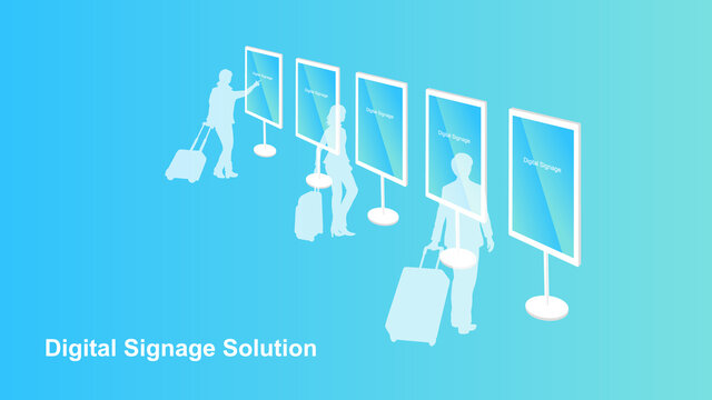 Digital signage solution for informing travellers and commuters.