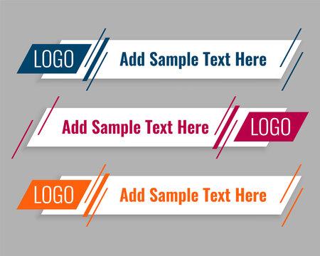 modern flat web lower third template design