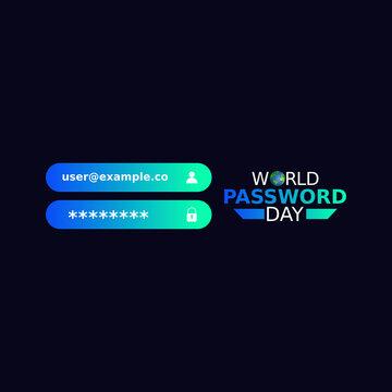 vector graphic of world password day good for world password day celebration. flat design. flyer design.flat illustration.
