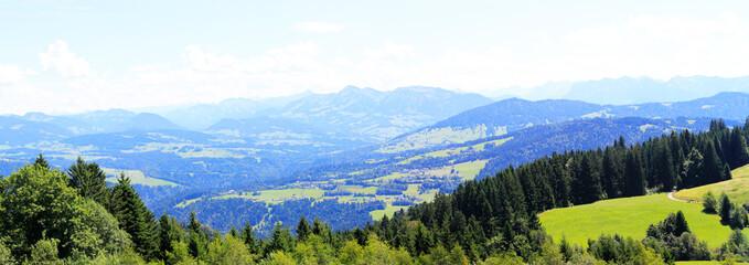 Obraz Panorama Alp Szwajcarskich  - fototapety do salonu