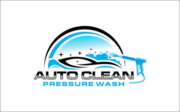 Illustration vector graphic of pressure power wash spray logo design template-05