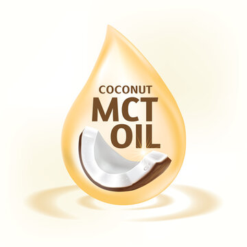 Coconut MCT oil Health Benefits Vector Illustration