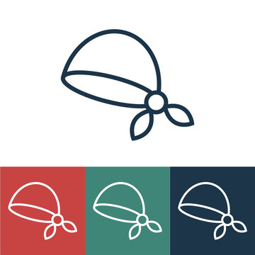 Linear vector icon with bandana