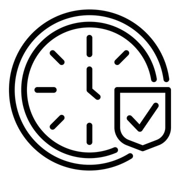 Punctuality icon. Outline punctuality vector icon for web design isolated on white background