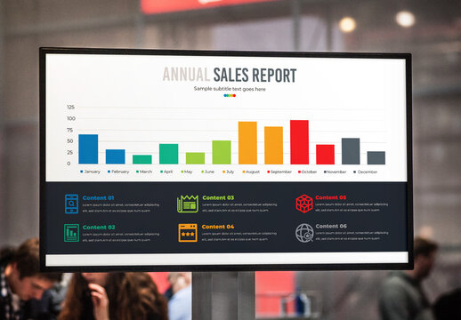 Annual Sales Report Insight Growth Bar