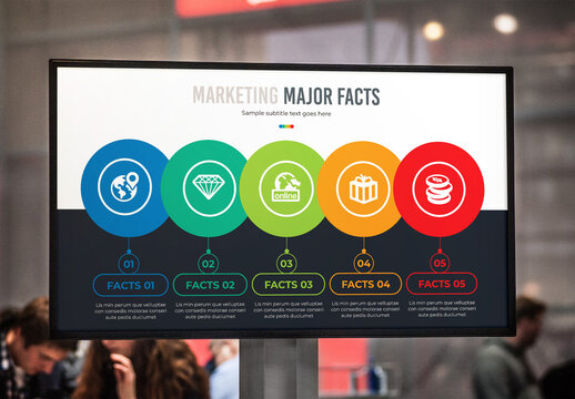 Marketing Major Facts Process with Timeline Infographic