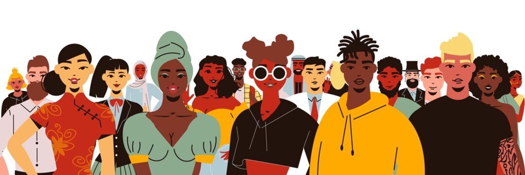 Social Diversity People Composition