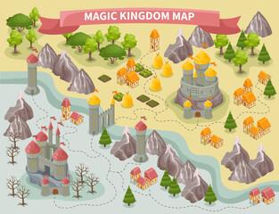 Wall Murals Graffiti Magic Kingdom Map