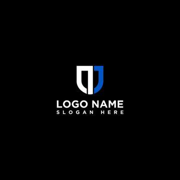 n J letter logo