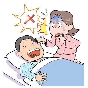 睡眠時無呼吸症候群-睡眠中に息をしていない