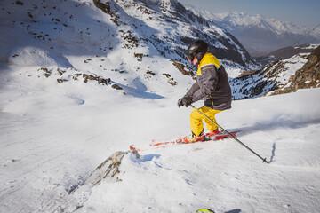 Obraz verbier, nands, szwajcaria narciarski, narty, zimą, śnieg, zima, góra, narciarski, sport, przeziębienie, krajobraz, piesze wycieczki, ekstremalne, charakter, niebo, przygoda, alpy, lud, narciarstwo, a - fototapety do salonu