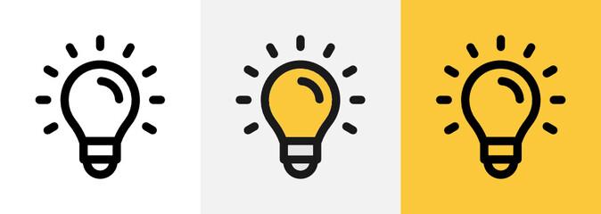 Fototapeta Bulb idea icon vector. Creativity for innovative solution concept illustration.