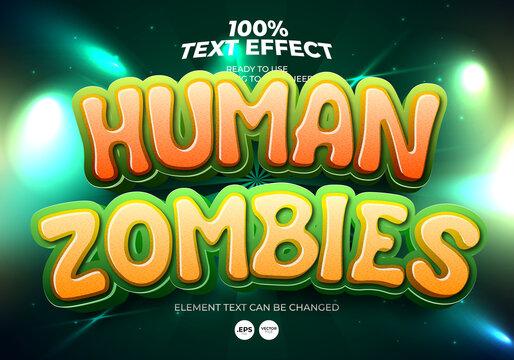 Human Zombies Editable Text Effect