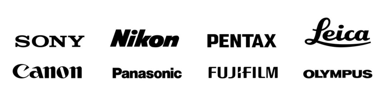 Top electronic photo camera company brand logo  set. Editorial image. VINNITSIA, UKRAINE. APRIL 02, 2021.