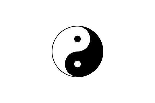 The yin yang symbol, Tai Chi Taoism religion icon concept background