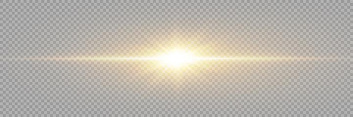 Fototapeta Vector transparent sunlight special lens flare light effect. PNG. Vector illustration. obraz