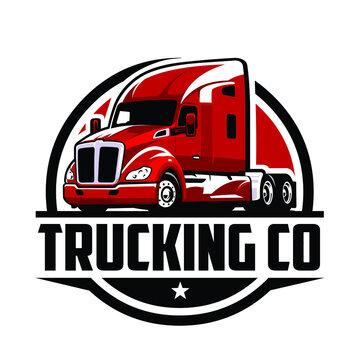 18 wheeler logo. Trucking Logo Company Logo. Premium Vector Truck Logo Vector