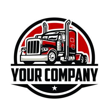 Semi truck logo. Trucking Logo Company. Premium Truck Logo Vector