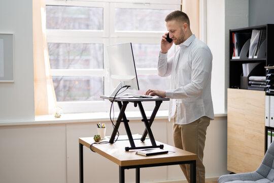 Adjustable Height Desk Stand