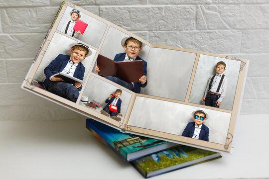 little boy graduation photobook, school album