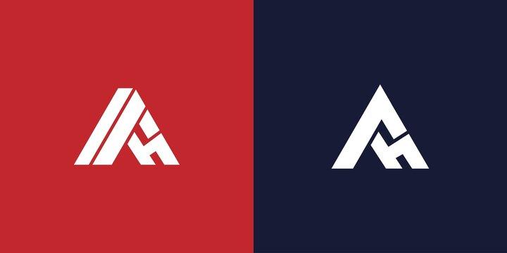 Modern and unique AH letter initials logo design