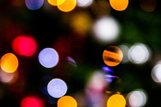 Textura desenfoque Bokeh de luces de navidad