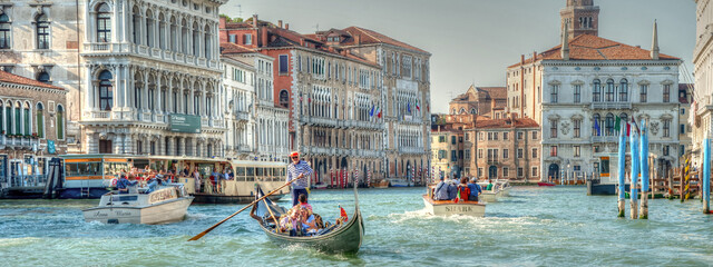 A glimpse of Venice with its magical gondolas