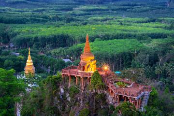 Wall Mural - Viewpoint of Khao Na Nai Luang Dharma Park in Surat Thani, Thailand.