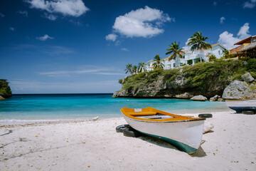 Playa Lagun Beach Cliff Curacao, Lagun Beach Curacao a small island in the Caribbean. white...
