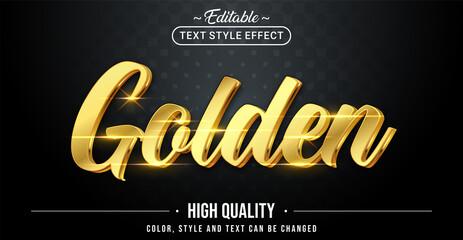 Fototapeta Editable text style effect - Golden text style theme. obraz