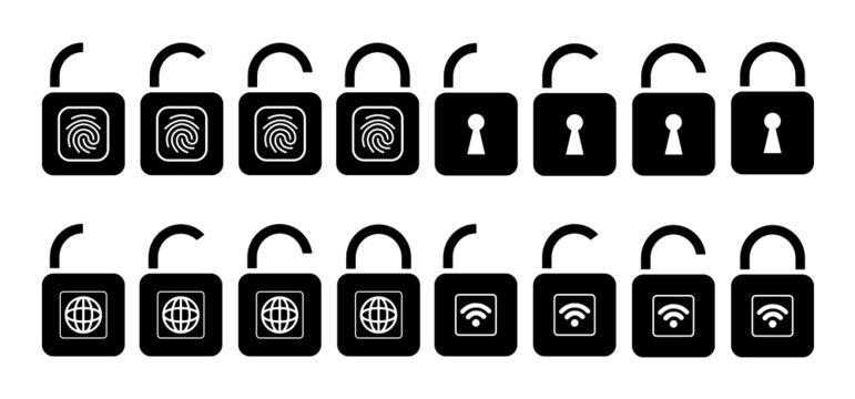 Icon Schloss Set Sicherheit set