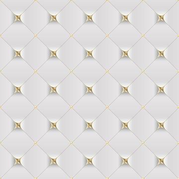 nahtlos Polster, Hintergrund, Tapete, Fliesen, Muster - weiß goldene Couch, Sofa