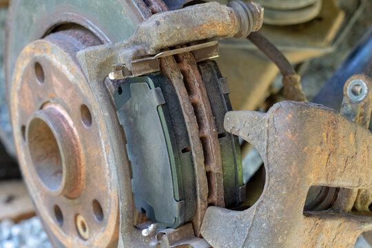 Disc brake replacement on car - Disk Brake System.