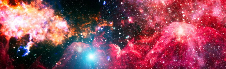 Obraz High quality space background. explosion supernova. Bright Star Nebula. Distant galaxy. Abstract image. Elements of this image furnished by NASA. - fototapety do salonu