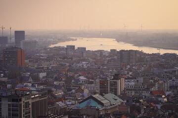 exclusive view over Antwerpen skyline