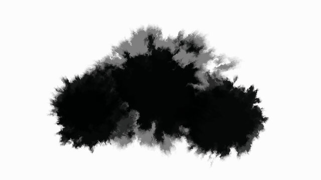 Ink stain slowly spreads over the paper.