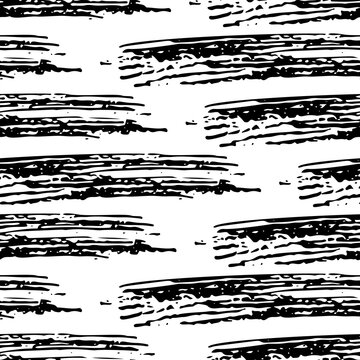 Seamless pattern with black pencil brushstrokes