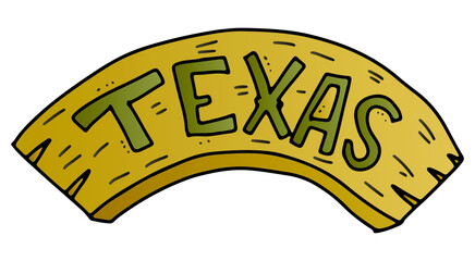 Fototapeta Texas state banner vector sign on isolated background