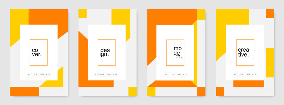 Set of modern cover and poster design template. Abstract colorful geometric shape for banners, business promotion, event, flyer and page layout design other.