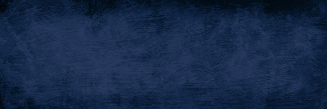 Black and blue background with grunge texture, old vintage abstract distressed pattern of scratches and peeling paint in dark navy blue color
