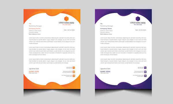 Creative letterhead design into two-color