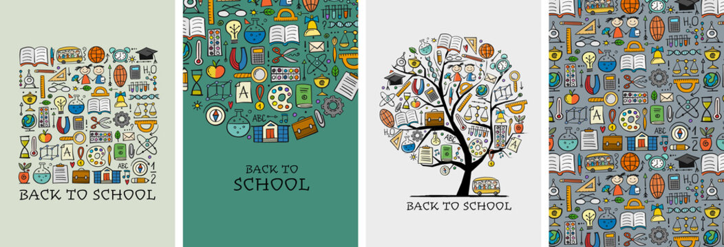 Back to School. Banner Design with place for text