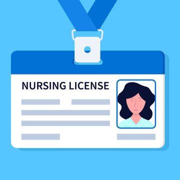 Nursing license illustration. Clipart image