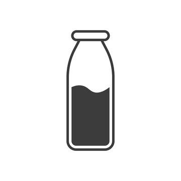 Glass jar with milk. icon Vector illustration