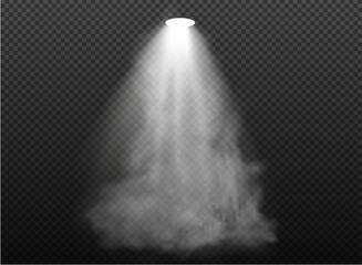 Obraz warm light set of bulb on a transparent background. Vector illustration - fototapety do salonu