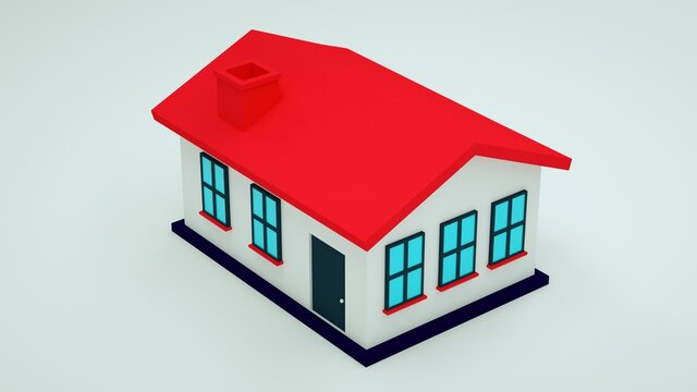 High quality 3d render of a miniature house. Housing market concept.  Great use for real estate and morgage related concepts.