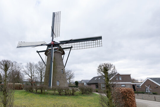 Elst The Netherlands, february 26 2021, Windmill t Wissel dating from 1855