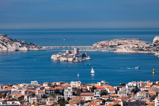 The Chateau d'If is a fortress located on the island of If, a small island in the Bay of Marseille.