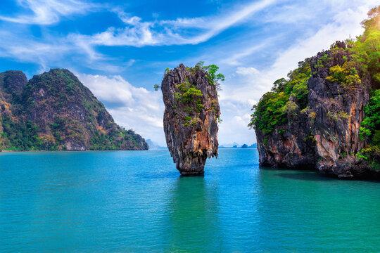 James Bond island in Phang nga, Thailand.